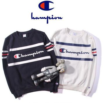 Champion Fashion  Long Sleeve Round NeckTop Sweater