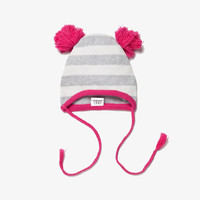 Egg Baby Striped Knit Hat - Megenta-  W4CK4370 - FINAL SALE