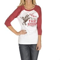Cowgirl Justice Women's Speak Your Mind Baseball Tee