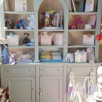 Blue Arched Hutch