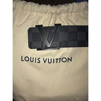 NEW Authentic Louis Vuitton Black Damier Belt 95cm