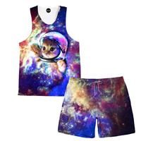 Astrokitty Tank and Shorts Rave Outfit