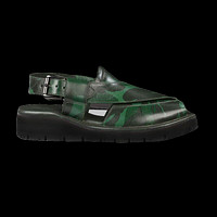 Marker Camo Mens Cowhide Genuine Eco Leather Sandals Peshawari Chappal by Inland Leather