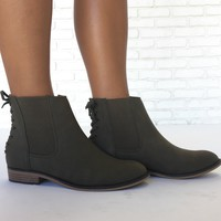 Into the Woods Booties in Olive