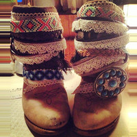 """The """"Paige"""" - Custom Upcycled Leather Cowboy Boots"""