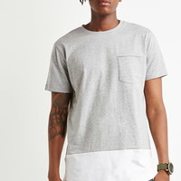 Heathered Colorblock Longline Tee