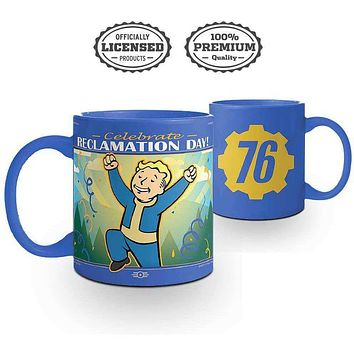 Fallout Reclamation Day Vault Boy Coffee Mug [16 oz.]