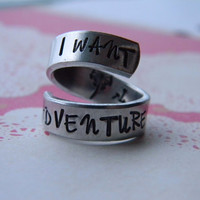 I want adventure belle inspired spiral aluminum ring