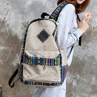 Beautiful national wind lace backpack