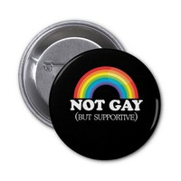 NOT GAY BUTTONS