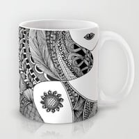 Sunny Girl with Tattoo Mug by DoDOODLE