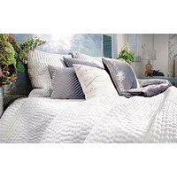 White Hand Stitched Bedding by Kevin O'Brien Studio