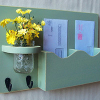 $29.95 Mail Holder (Double Slots, Key Hooks, Jar Vase)  by LegacyStudio