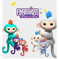 Fingerlings Interactive Baby Monkeys Toy Smart Colorful Finger monkey Smart Induction Toys Christmas Gift Toy For Kids