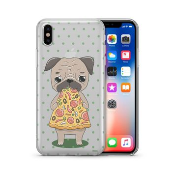 Pizza Pug - Clear Case Cover