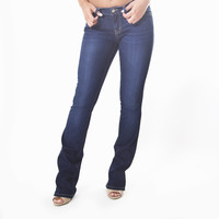 Blue Denim Slim Bootcut Jeans By Flying Monkey - L7671