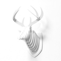 DENY Designs Home Accessories | Deny Designs White Faux Deer Mount