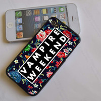 vampire weekend floral logo iPhone 4 4S iPhone 5 5S 5C and Samsung Galaxy S2 S3 S4 Case