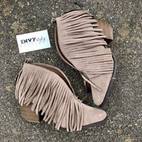 Size Carrie Fringe Bootie