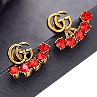 GUCCI New Double Diamond G Stud Earrings