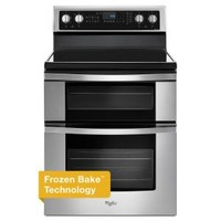 Whirlpool 6.7 cu. ft. Double Oven Electric Range with True Convection in Stainless Steel WGE745C0FS at The Home Depot - Mobile