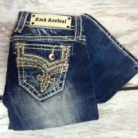 ROCK REVIVAL BETTY B7 BOOTCUT JEANS