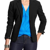 Banana Republic Womens Factory Black Blazer