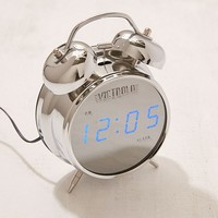 Victrola Retro Chrome Digital Alarm Clock | Urban Outfitters