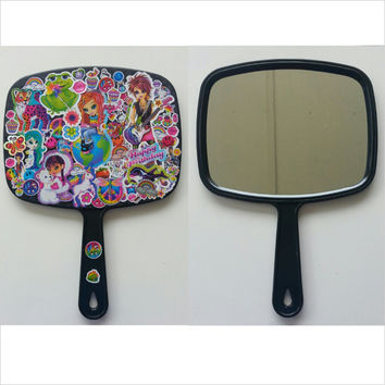 Lisa Frank / mirror / lisa frank stickers / 90s stickers / Lisa frank mirror / 90s / kawaii / nostalgic / kawaii mirror / hand mirror