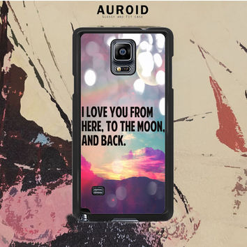 The Moon And Back Samsung Galaxy Note 4 Case Auroid