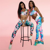 Fitness Women Sport Suit Running leggings Gym Clothing Sportswear Yoga Set Gym Wear Yoga Clothes Gym Suit sports bra