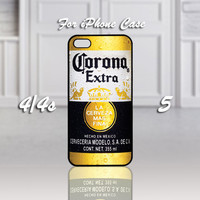 CORONA Extra Beer Bottle, Design For iPhone 4/4s Case or iPhone 5 Case - Black or White (Option)
