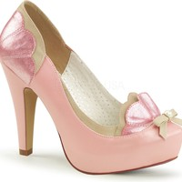 BETTIE-20 | B. Pink-Tan Faux Leather [PREORDER]