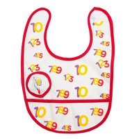 Bibbles ''Counting Song'' Bib (Red)