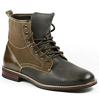 Men's M-808562 Lace Up Military Combat Ankle Dress Boot