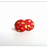 Christmas Stud Earrings, Gold Flakes Earrings, Festive Earrings, Polymer Clay Jewelry, December Gifts, Christmas Sale, Gifts For Daughter