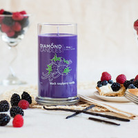 Black Raspberry Vanilla Candle - All Natural Soy Candles By Diamond Candles