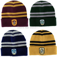 Warm & fashion Harry Potter Gryffindor Wool Knit Beanie Hat Cap with Gryffindor Emblem
