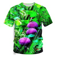 Poisonous Mushrooms T-shirt Men T Shirt Beautiful Print Tops Tee Casual 3d Tshirt