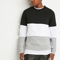 Colorblocked Stripe Sweatshirt