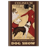 Restored Collectible Vintage Chicago Kennel Club Post Card