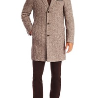 'The Logan'   Virgin Wool and Silk Coat With Detachable Quilted Lining by BOSS