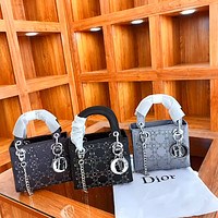 Dior Women's Double Shoulder Strap Retro Wild Princess Bag Handbag Shoulder Bag