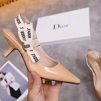 Dior Women Fashion Heels Sandals Shoes-4