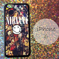 Guitar Collage Nirvana Smile Logo - cover case for iPhone 4|4S|5|5C|5S|6|6 Plus Note 2|3 Samsung Galaxy S3|S4|S5 Htc One M7|M8