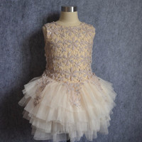 """The """"Zoe"""" Taupe Lace Dress"""