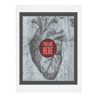 Wesley Bird You Are Here Art Print