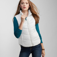 Solid Puffy Vest - Aeropostale