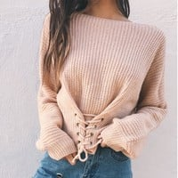 Winter Sexy Long Sleeve Sweater [31298617370]