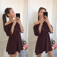 Summer Sexy Lace One Piece Dress [11676759311]